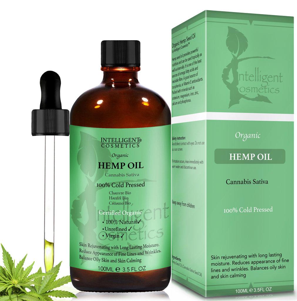 Hemp Seed Oil 100% Cold Pressed 100ml